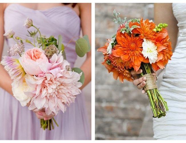 orange dahlia flowers | energetic orange of the dahlias pictured below see more wedding flower ...