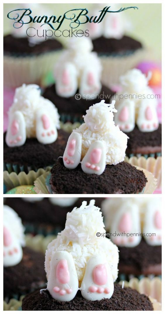 Bunny Butt Cupcakes! We loved making these... easy and super cute!