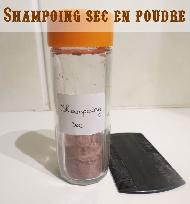 Mon shampoing sec, version poudre brune