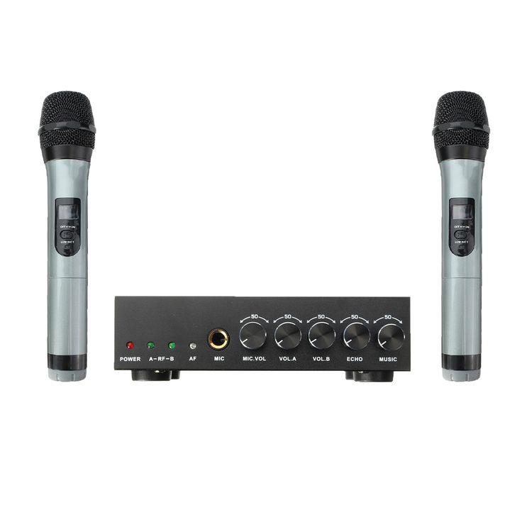 59.99$  Watch more here - ELEGIANT UHF Karaoke Microphone System Dual Wireless Condenser Microphones Mic With Receiver For Home Studio KTV Singing   #buyonlinewebsite