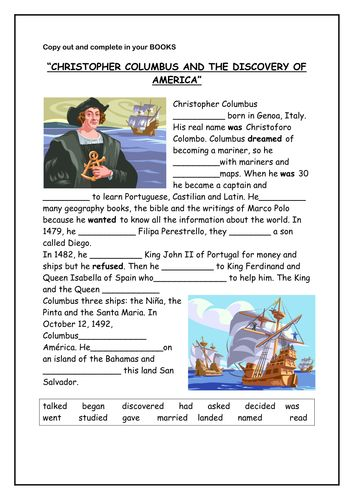 Christopher Columbus activity