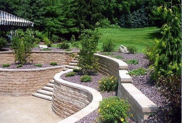 Retaining walls mur muret en pierre pinterest muret for Garden idea et 700