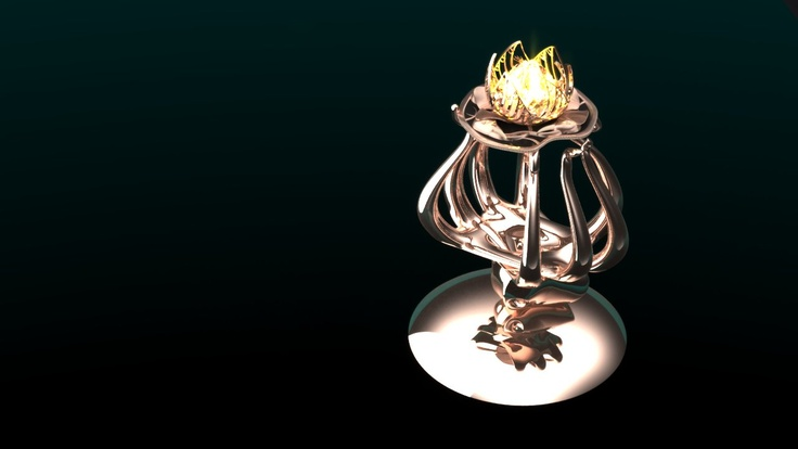 Seb Pintea - Glowing Lotus Light (CAD Render)