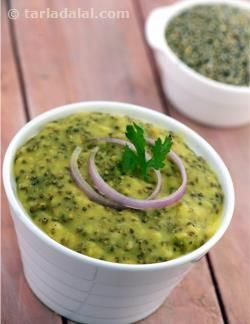 This is a traditional Rajasthani recipe that we discovered is an excellent source of protein, iron, folic acid and fibre. Its creamy consistency and mild flavours make it a good recipe to have especially in the preconception period and first trimester. But I'm sure you will enjoy it all through your pregnancy. You can even perk up this khichdi by adding some spices to it and maybe even throw in some vegetables. Serve it with curds or a raita and you have a completely balanced meal ready.