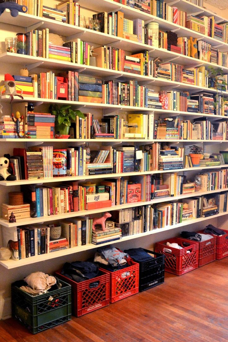 Best 25 track shelving ideas on pinterest shelf brackets and id long dreamed of a way to display all my books which amipublicfo Image collections