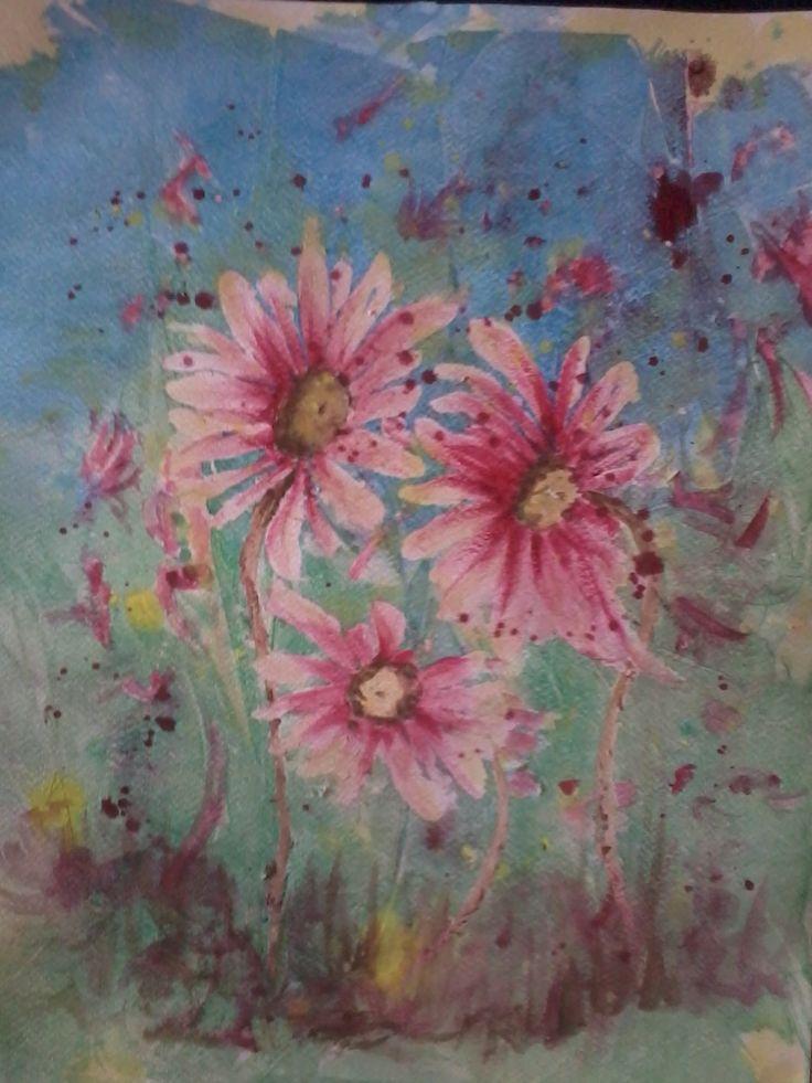 under water daisies