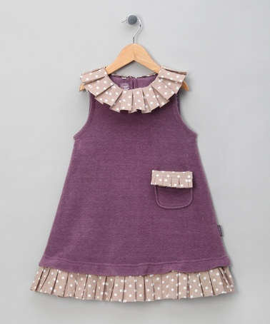 {Purple Modular Dress & Plissé Trim Set - Girls by Juggle Angels}