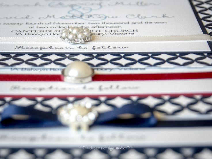'Moon River' wedding invitation suite- beautiful detail