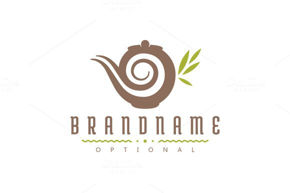 For sale. Only $29 - drink, teapot, leaf, spiral, dream, tea, sleep, relax, china, magic, lamp, coffee, brown, green, memorable, natural, modern, simple, artistic, stylized, pot, tearoom, café, restaurant, organic, relaxation, healthy, porcelain, antique, logo, design, template,