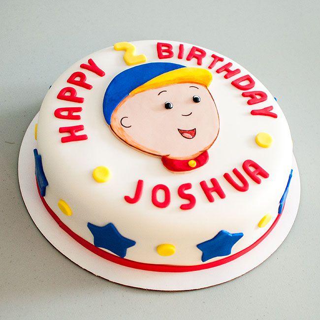 Caillou Cake.  #caillou #birthdaycake #cakes #fondant #chickytreats