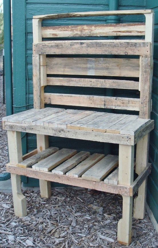 Potting Bench From Pallets | Potting Bench from Pallets | Old windows and pallets and FJ60