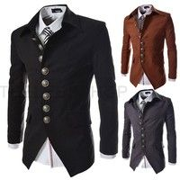 Wish | Lapel Design Men's Slim Fit Blazer Caot