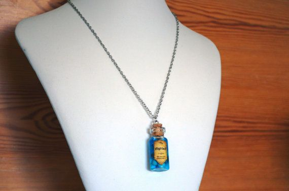 Hunger Games Inspired Bottle Necklace Nightlock by shopAzurite