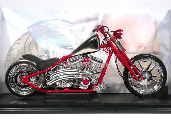 jesse james bikes   Jesse James West Coast Choppers Cherry CFL Diecast Chopper Model 1:10 ...
