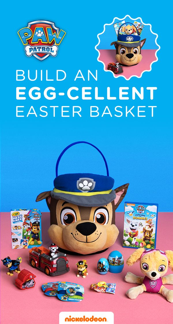Hop to the rescue with these PAW Patrol Easter goodies! Want to stay stress-free and get your Easter shopping done in one trip? Check out these PAWsome ideas for your preschooler's Easter basket: a plush Chase jumbo Easter basket, Mission PAW Patrol toys, PAW Patrol episode DVDs, PAW Patrol coloring, and more!