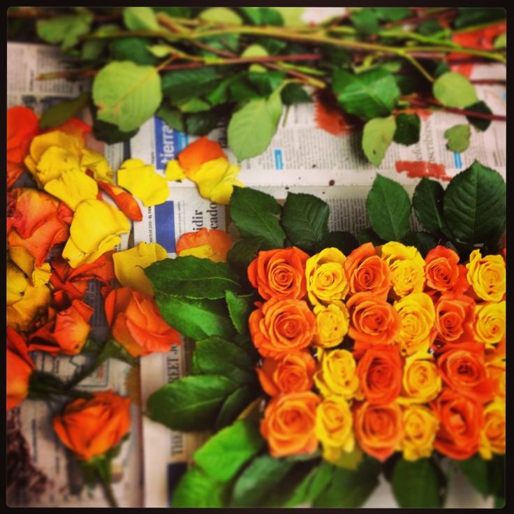 Flores frescas para acompañar una rica torta....