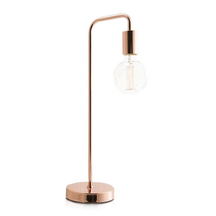 Rose gold lamp