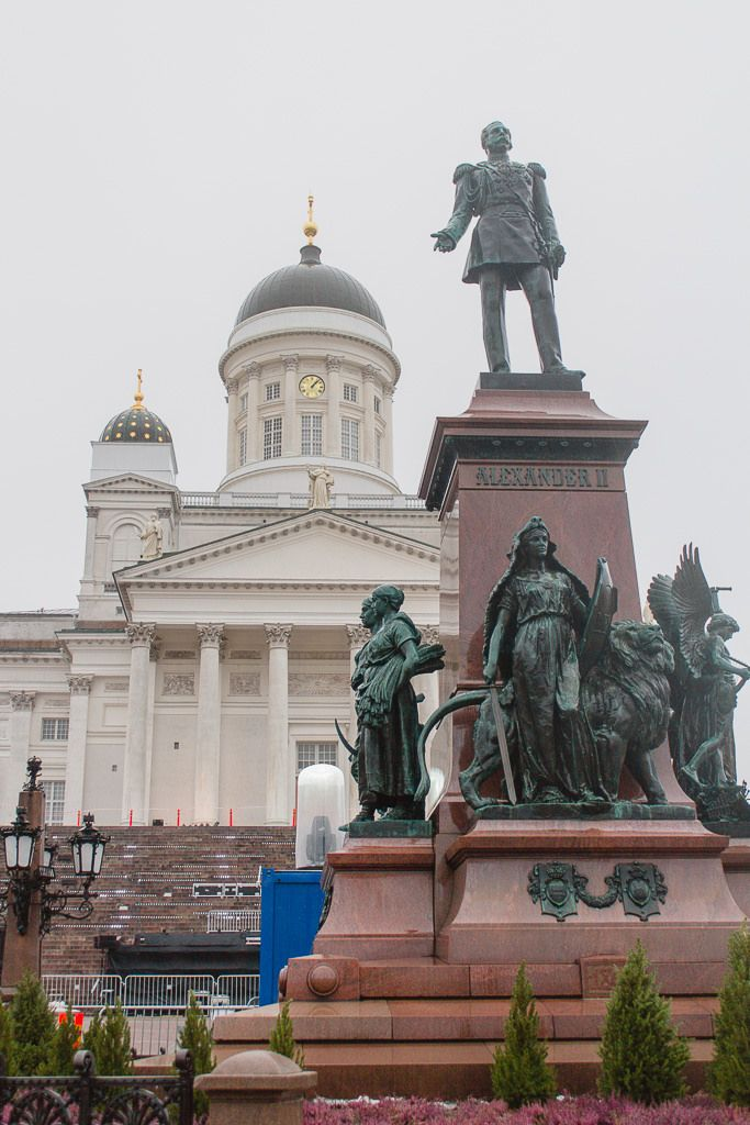 Helsinki, January 2015 Statue of Alexander II
