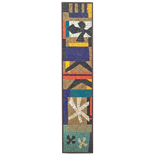I love MId Century mosaics.  Evelyn Ackerman created some some of the most intricate abstract designs of the time.  Favorite!