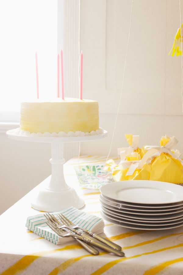 QUICK PARTY IDEA | Yellow Party | have a party Closet! Whip up a party in a couple of hours.