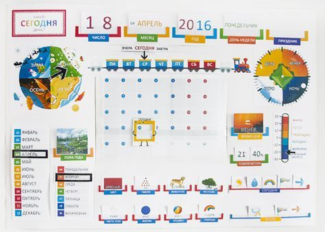 Календарь-метеостанция или Morning Board от пользователя «brightkids» на Babyblog.ru