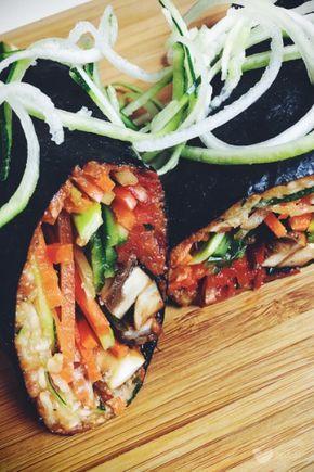 Wrapy nori z pastą z suszonych pomidorów – erVegan