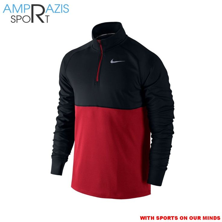 Nike Racer 1/2 Zip Running Top (Black/Red)