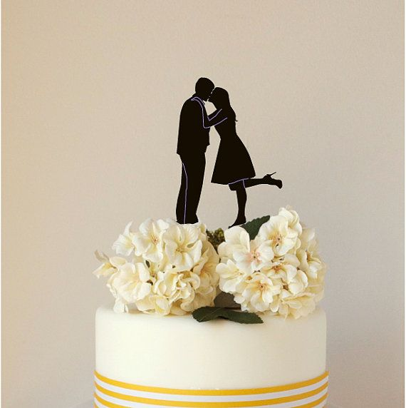 Custom Paper Silhouette Wedding Cake Topper, Paper cutout topper, made from your photograph by Wedded Silhouette