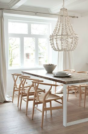 Beautiful, timeless, classic & love them in this setting - Wishbone chairs