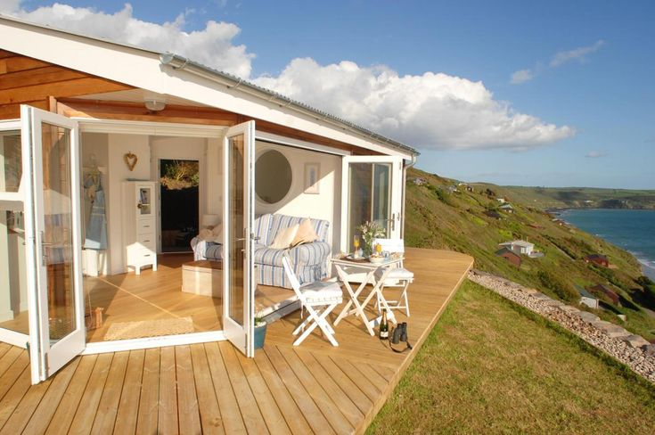 The Edge, a small beach cottage in Cornwall, England.