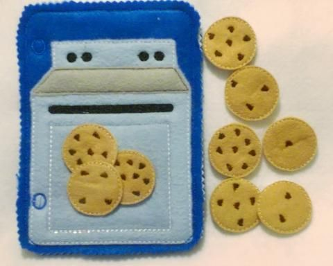 Blue Counting cookies baking set quiet book