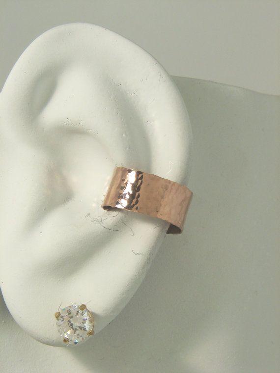 Gauge POST Pierced Conch Cartilage Hoop Earring, Pink  ROSE Gold, Body Piercing, Cartilage Hoop Body Jewelry,  Ear Cuff Piercing E1RGFHMP