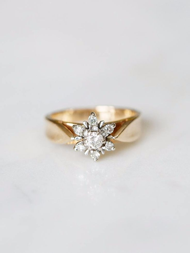 The Swinton Vintage Ring—unique, one of a kind. Get her before she's gone! See more here: https://www.davieandchiyo.com/collections/vintage-rings/products/vintage-the-swinton-ring-1