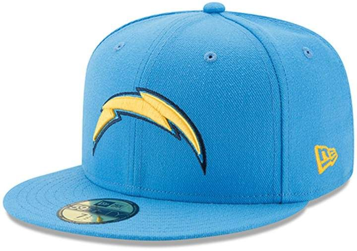 Men S New Era Light Blue Los Angeles Chargers Omaha 59fifty Hat In 2020 New Era Fitted Caps 59fifty Hats