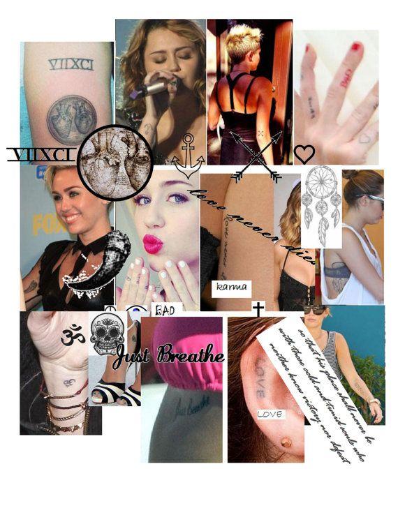 WannaBe Miley Cyrus Temporary Tattoos by MissHannahKay on Etsy, $20.00