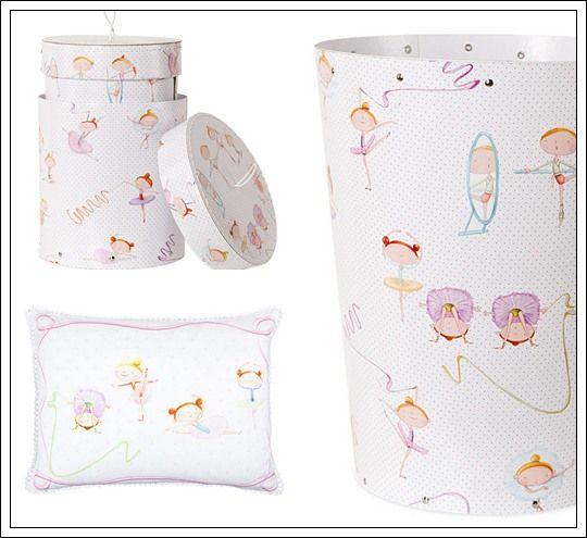 """Juego de cama Bailarinas : La nueva colección de textiles infantiles de Zara Home Kids incluye una colección de diseño """"Bailarinas"""" ideal para dormitorios temáticos de ballet. Este j"""