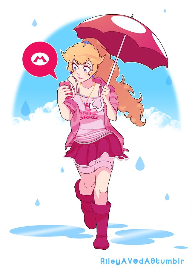 Princess Peach by Riley AV