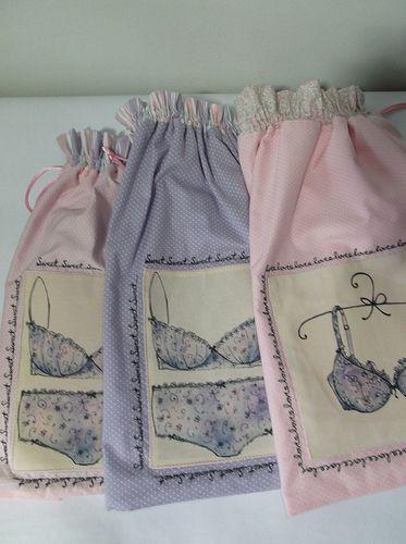 saquitos para lenceria