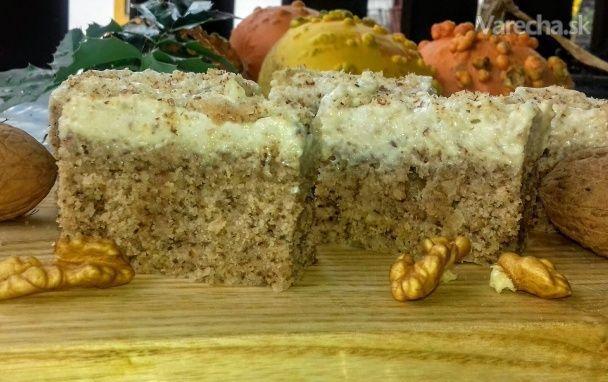 Orechovo-krupicový koláč (fotorecept)