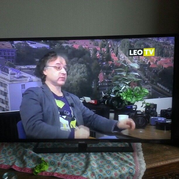 On the tele.