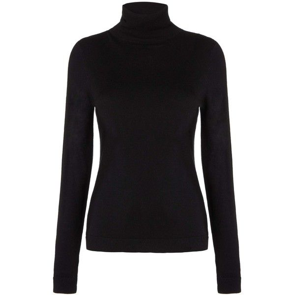 Whistles Silk Mix Roll Neck Jumper, Black ($26) ❤ liked on Polyvore featuring tops, sweaters, shirts, long sleeve tops, long sleeve jumper, long sleeve shirts, rollneck sweaters and roll neck sweater