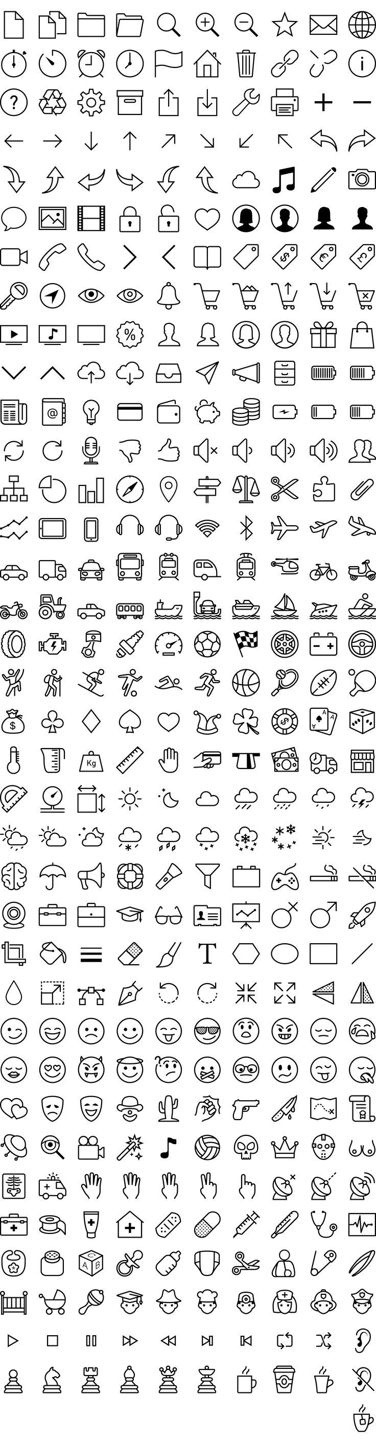 Download iOS 7 icons in vector