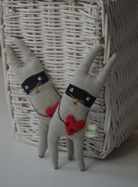 SALE. Bandit rabbit by adatine on Etsy