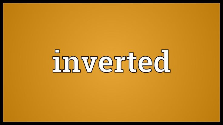 Inverted Meaning