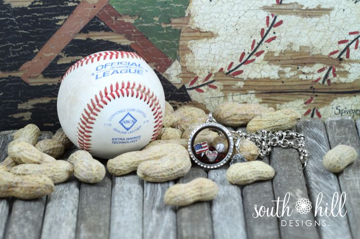 Baseball themed locket