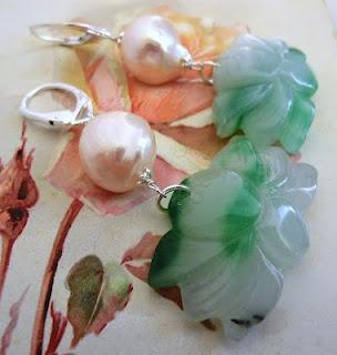 jade and pearl earrings