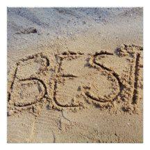 Best Sand Writing Motivational Summer Beach Poster