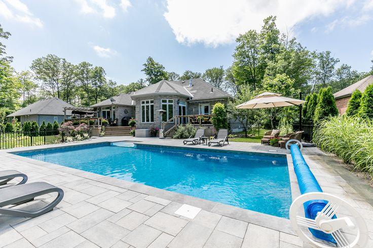 2017 Minesing Backyard Pool and Landscape Design