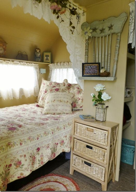 Charming Cottage Decor In This Vintage Trailer Sisters