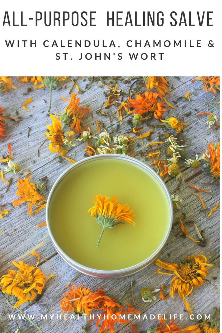 How to Make an All Purpose Healing Salve with Calendula, Chamomile & St. John's Wort | Herbal Home Remedies | DIY | Homemade | Herbal | Herbalism | My Healthy Homemade Life